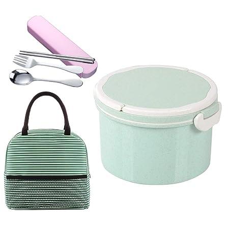 LSXIAO-Fiambreras Bento Contenedor De Comida Caja De Pan con 2 ...