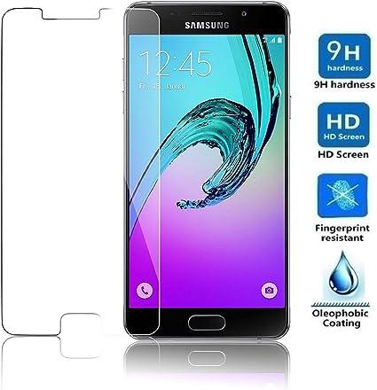REY Protector de Pantalla para Samsung Galaxy A3 2016 Cristal Vidrio Templado Premium: Amazon.es: Electrónica