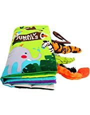 beiens My Quiet Books 8 animals - Ultra Soft Baby Books Touch and Feel Cloth Book, 3D Tails Books Fabric Activity for Baby /Toddler, Learning to Sensory Book、Identify Skill Boys and Girls