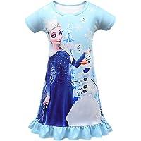 AmzKids Princess Nightgowns for Girls Toddler Pajamas Nightdress Kids Nighties Sleepwear