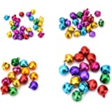 SevenMye Mix Color 200 Pcs Mini Jingle Bells 6mm for Christmas,Wedding Decoration,Pet Ornament and Crafts,Sewing,Knitting,Jewelry Making