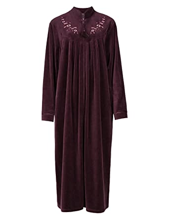 all color f948b a3160 long zip front dressing gowns twitter.com - uk ...