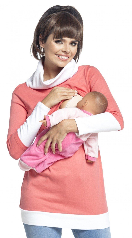 Zeta Ville - Sudadera de lactancia 2 en 1 detalles contraste - para mujer - 348c nursing_top_348