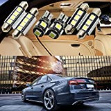 19PCS Mihaz Auto White LED Festoon Lamp Interior Lights Bulbs Package Kit T10 Canbus Error Free Bulbs 175 168 DE3175 Fit Any Auto Car