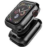 Apple watch 5 44mm / Apple watch 4 44mm ケース TopACE アップルウォッチ5 44mm メッキ加工 メタリックな色 TPU ソフトケース 落下防止 Apple watch series 5 44mm 対応(ブラック)