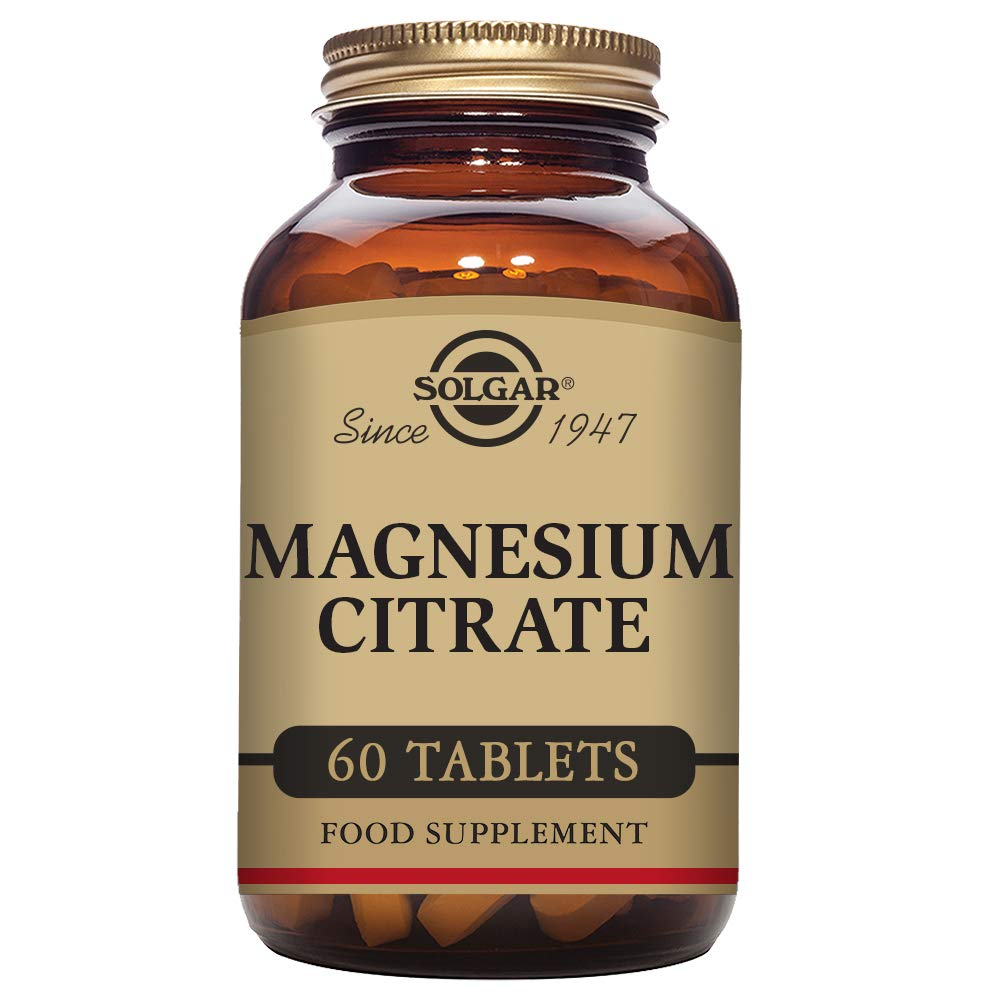 Amazon.com: Solgar - Magnesium Citrate, 60 Tablets: Health & Personal Care