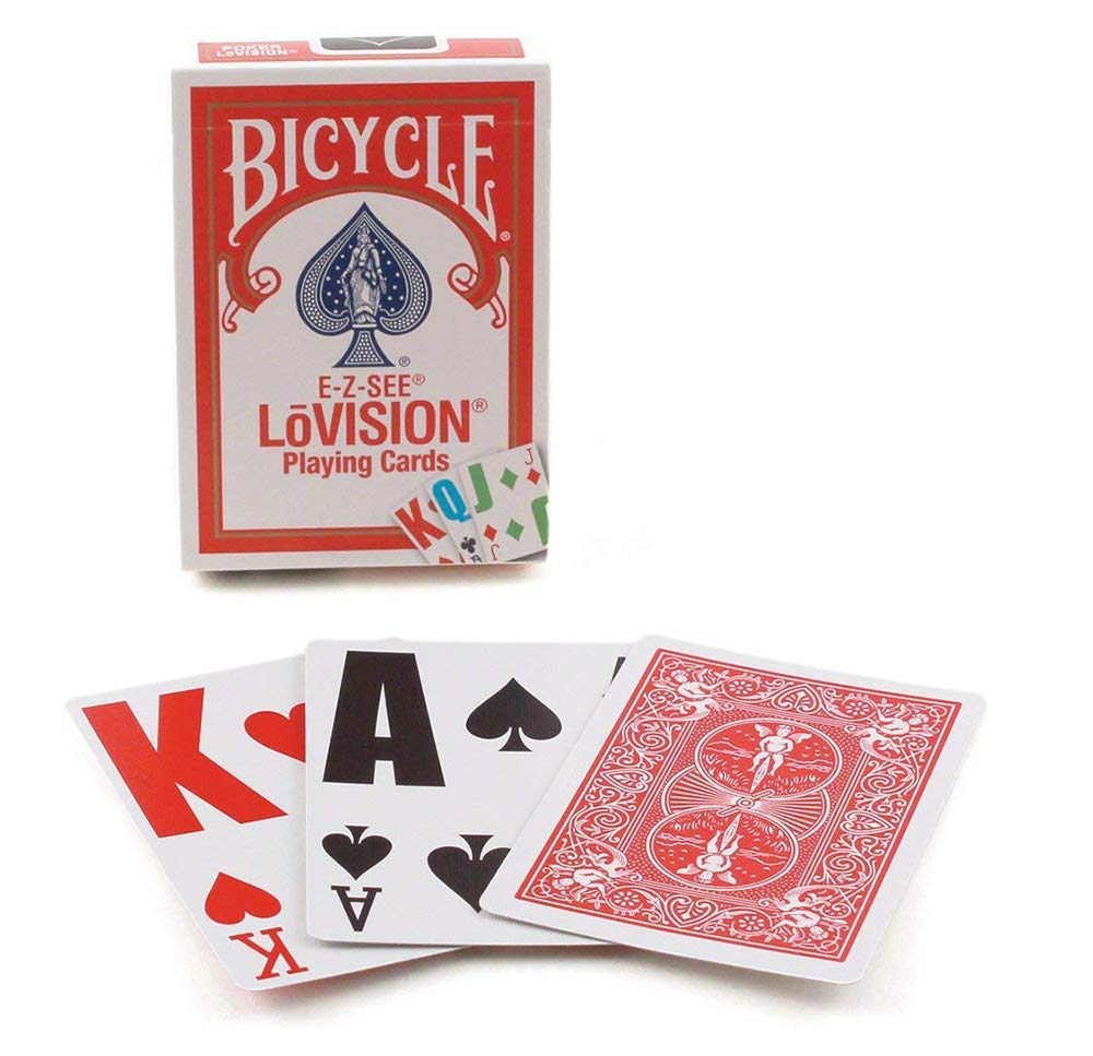 Amazon.com: Bicycle E-Z See/lo- Vision Playing Card Deck ...