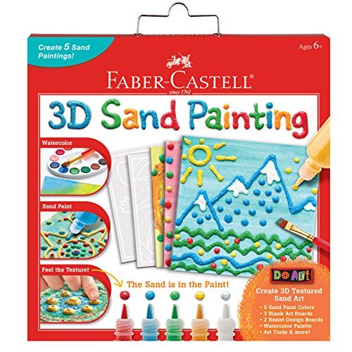 Faber Castell 3D Sand Painting - Textured Sand Art Activity Kit for Kids