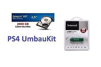 Playstation 4 Umbaukit 2tb Mit 8gb Usb Stick Für Amazonde Elektronik