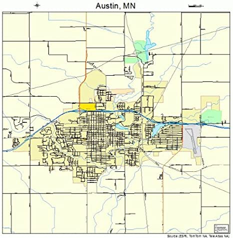 map of austin minnesota Amazon Com Large Street Road Map Of Austin Minnesota Mn map of austin minnesota