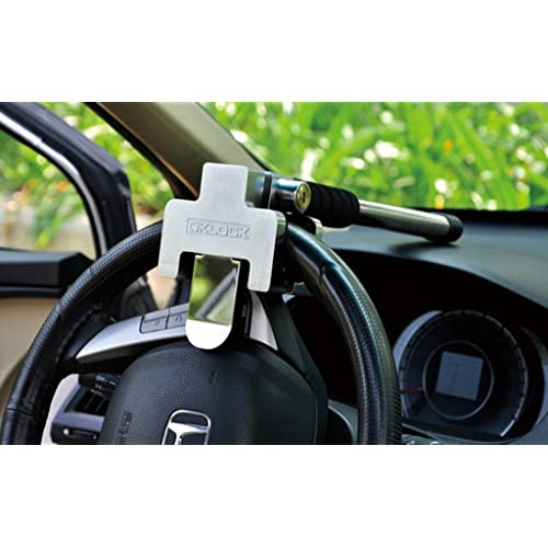 FREESOO Auto Steering Wheel Lock Car Anti theft Lock Safety Sicherheitshammer Auto Diebstahlsicherung Lenkradkralle, Lenkradschloss