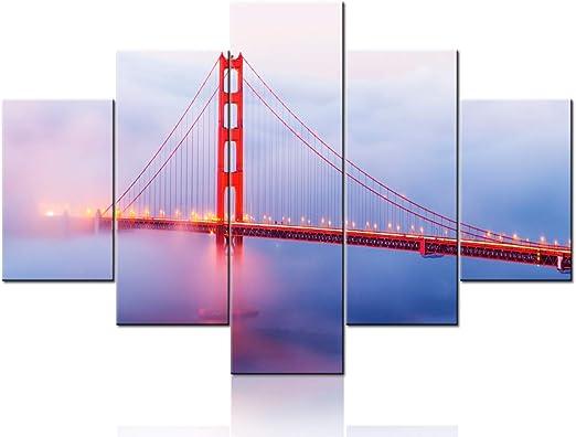 San Francisco Golden Gate Bridge CITY  Canvas Print Framed Picture Wall Artwork