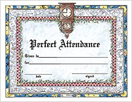 perfect attendance award certificate school specialty publishing