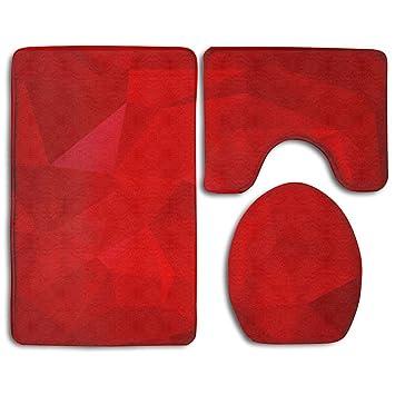 Redbeans Rot Polygon Rot Abstrakt Rot Hintergrund Rot Muster