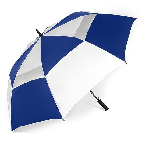 23720d1de5cd ShedRain Windjammer Vented Auto Open Golf Umbrella: Royal Blue/White
