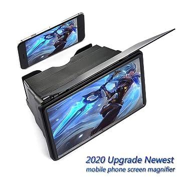 JLKDF 12Screen Lupa, Ampliación HD Pantalla del teléfono móvil ...