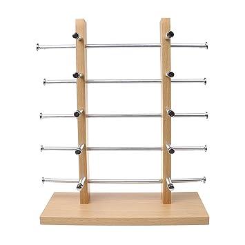 Sharplace 2-Row Brillenständer Brillenpräsenter Brillendisplay aus Holz - 4-Schicht 7MZonCX