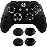 eXtremeRate Soft Anti-Slip Silicone Case Cover Thumb Stick Grip Caps Protector Skins for Microsoft Xbox One S/Xbox One X Controller