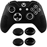 eXtremeRate Soft Anti-Slip Silicone Controller Cover Skins Thumb Grips Caps Protective Case for Xbox One X & One S…