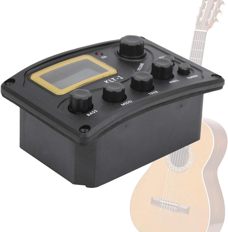 CHICIRIS 4 Band Acoustic Guitar Preamp EQ Equalizer Preamp Piezo Pickup Set Instrument Parts Accessories KLT‑1