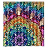 "POOKOO ""Beautiful Mandala Pattern"" Personalized Custom 66"" x 72"" Waterproof Polyester Fabric Shower Curtain"