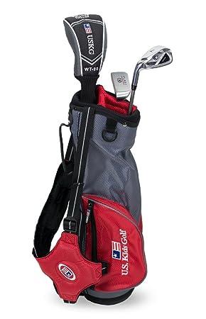 US kids Golf UL 39 Set Bolsa de Palos, Unisex niños, Rojo, 3 ...