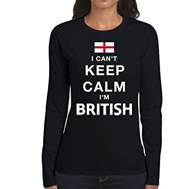 AW Fashions I Cant Keep Calm Im British - Funny Womens Long