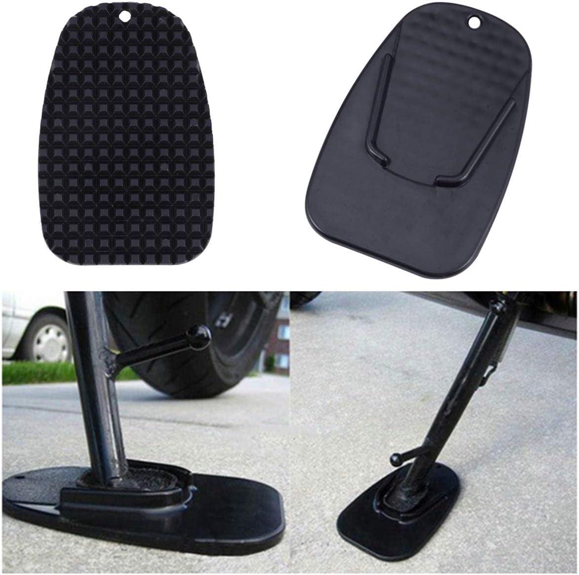 Non Moto B/équille Pad Durable Biker Kick Stand Moto Kick Stand Coaster Support Plate Noir