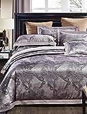 GAOL, four-piece suit,100% Cotton Comfortable Luxury Floral Jacquard Duvet Cover Sets,Queen/King Size , queen