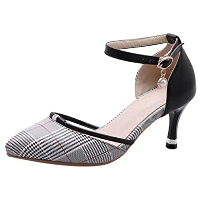 JOJONUNU Damen Stiletto Kleid Sandalen