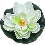 Sonline Loto artificiale di plastica EVA decorazione vegetale per acquario Colore Bianco