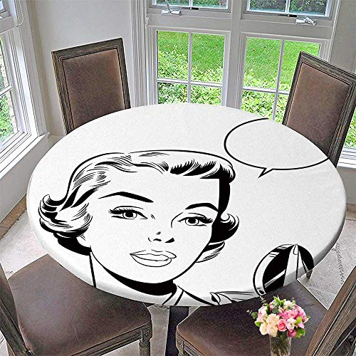 Chateau Easy-Care Cloth Tablecloth pop Art Woman Mirror for Home, Party, Wedding 67