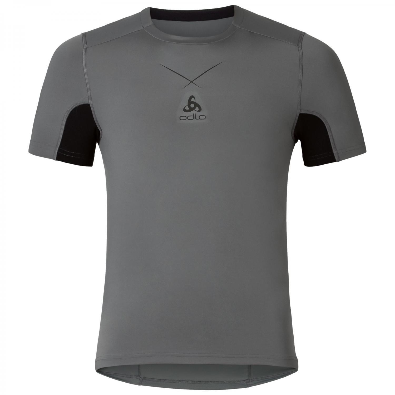 Hombre Odlo Bl Top Crew Neck L//S Active F-Dry Light Camiseta