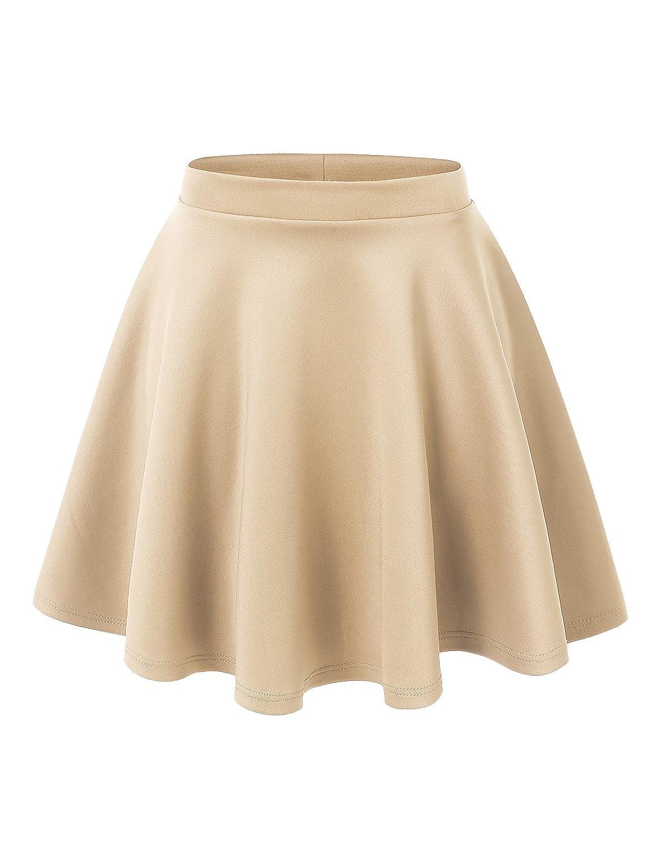 UUファッション女性用プラスサイズ基本的な万能ストレッチフレアスケータースカート B0767LT3JM B0767LT3JM Wb1034_khaki 2X Wb1034_khaki 2X, ヒジマチ:2740a939 --- bernsieboy.com