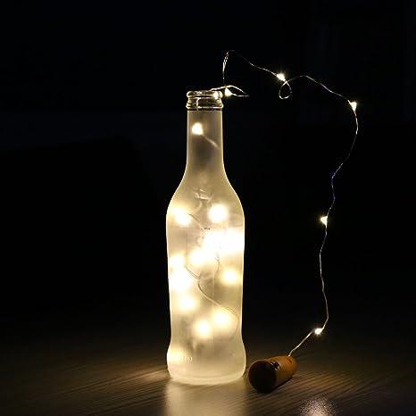 A-szcxtop para botella de vino corcho LED String Light para fiesta cumpleaños boda y