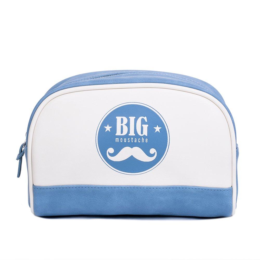 Big Moustache Trousse de Toilette Blanc/Bleu bm-travel-kit-bag-lcl