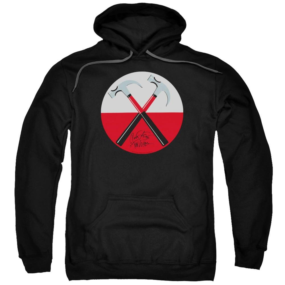 Hoodie: Pink Floyd- Hammers Button Pullover Hoodie Size L