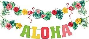 Hawaiian Aloha Party Decorations - Luau Party Supplies - Tropical Theme Summer Beach Pool Party Decorations - Luau Birthday Party Decor