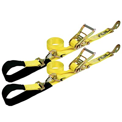 VULCAN Axle Tie Down Combo Strap Kit - 2 Inch - Classic Yellow - 3,300 Pound Safe Working Load: Automotive [5Bkhe1511571]