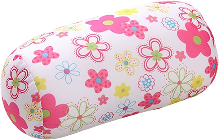 Micro Beads Roll Pillow Travel Neck Head Support Sleep Cushion Stress Relief UK