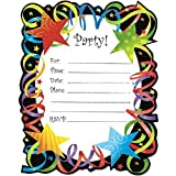 """Party Perfect Let's Celebrate Invitation and Green Envelope Set, Paper, 6"""" x 4"""", Pack of 20"""