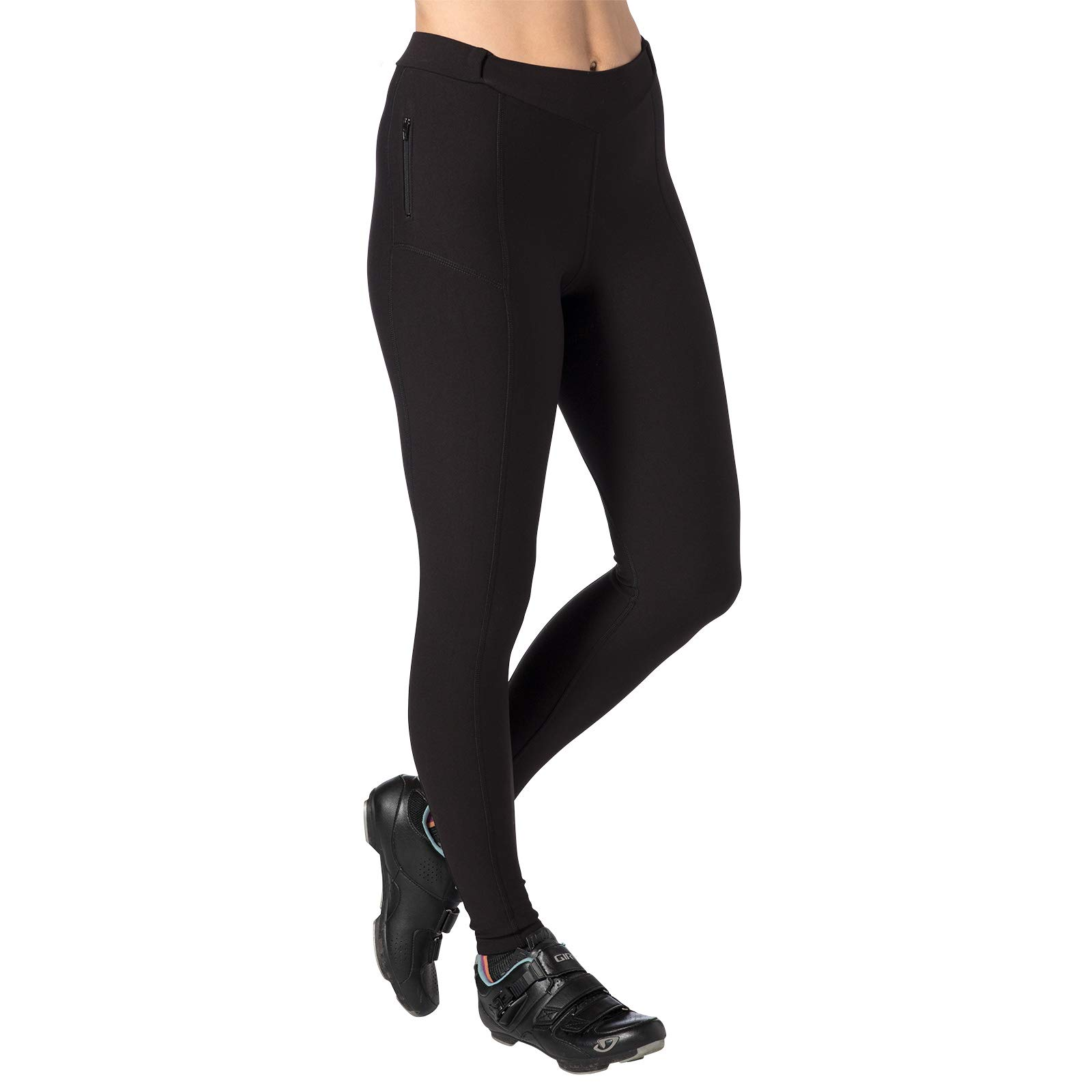 Terry Coolweather Cycling Padded Tights for Women - Regular - 29 inch Inseam Pants - Black - X Small by Terry