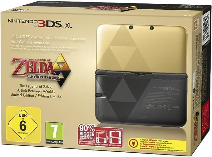 Nintendo 3DS XL Zelda - videoconsolas portátiles (Nintendo 3DS XL, Negro, Oro, LCD, 12.4 cm (4.88