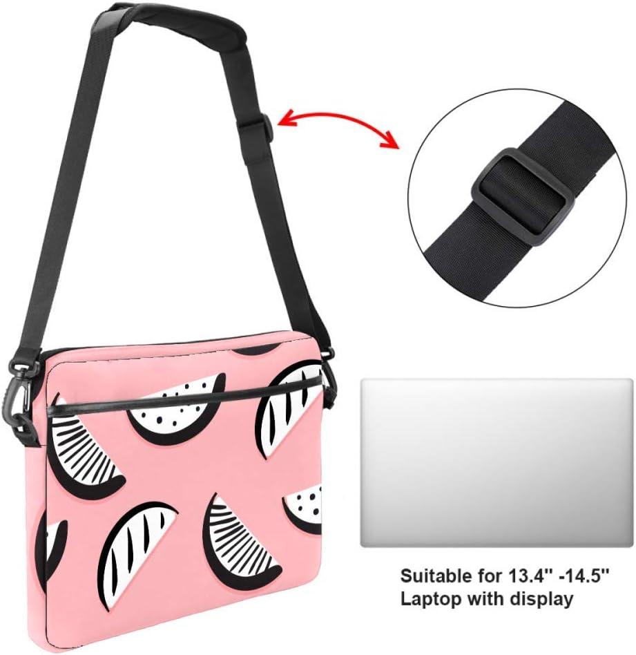 Anmarco Watermelon Slice Laptop Shoulder Messenger Bag Crossbody Briefcase Messenger Sleeve for 13 13.3 14 Inch Laptop Notebook Tablet Protect Tote Bag Case