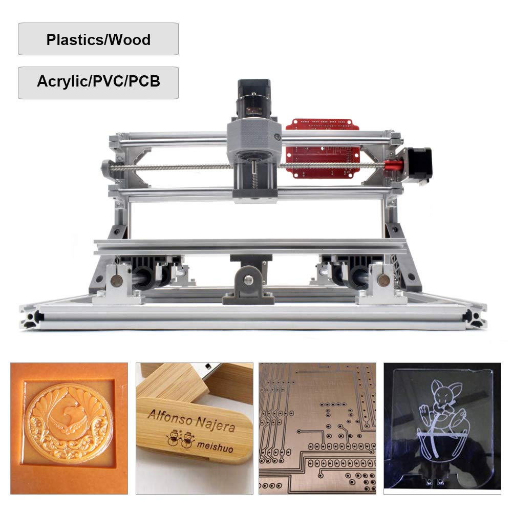 2 in 1 Laser Cutting and Engraving Machine 500mW Class 4 Desktop CNC3018 for Wood, Acrylic & PVC. Made for Small Business and Creative Talents by FASTTOBUY (Image #4)
