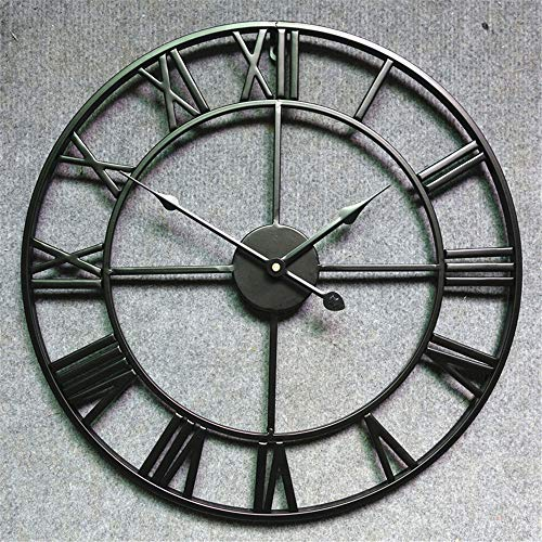 - ZYFBN Metal Wrought Iron Roman Wall Clock, Section A