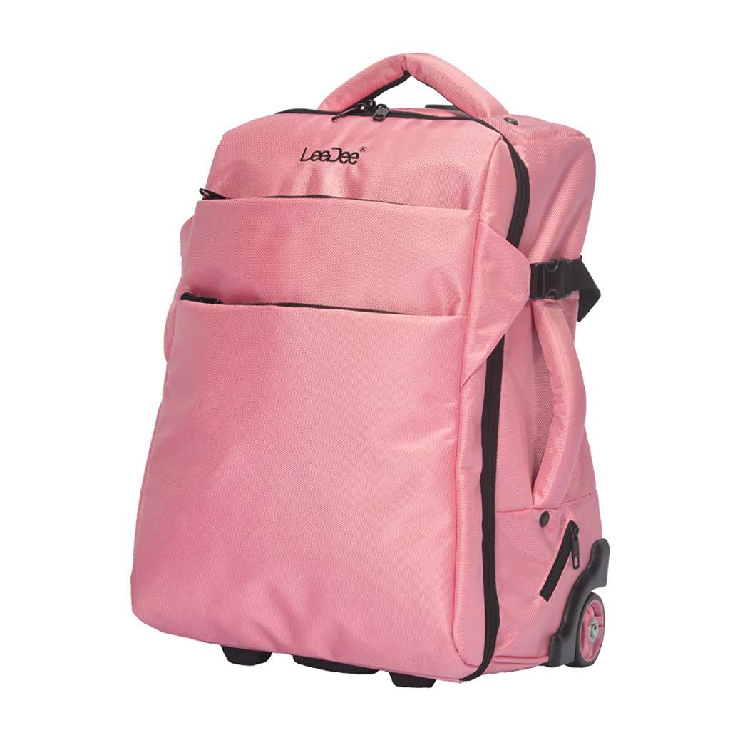 学校のラップトップバッグを旅する少年のためのトロリーバックパック大容量ストレージウィールドローリングバックパック防水旅の荷物 B07NMSZLB3