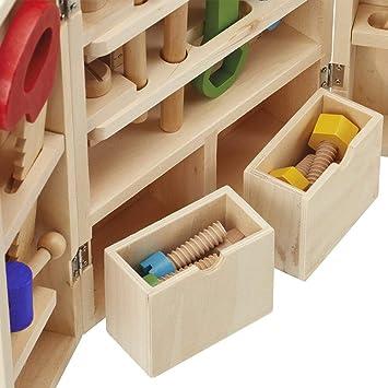 Caja herramientas madera tool case con accesorios, Juego para ...