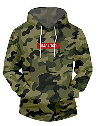 JW 3d Fashion Hoodies Army Green Camouflage Sprint Crewneck Hip Hop Streetwear Tracksuits Pulloves Hooded Pullovers