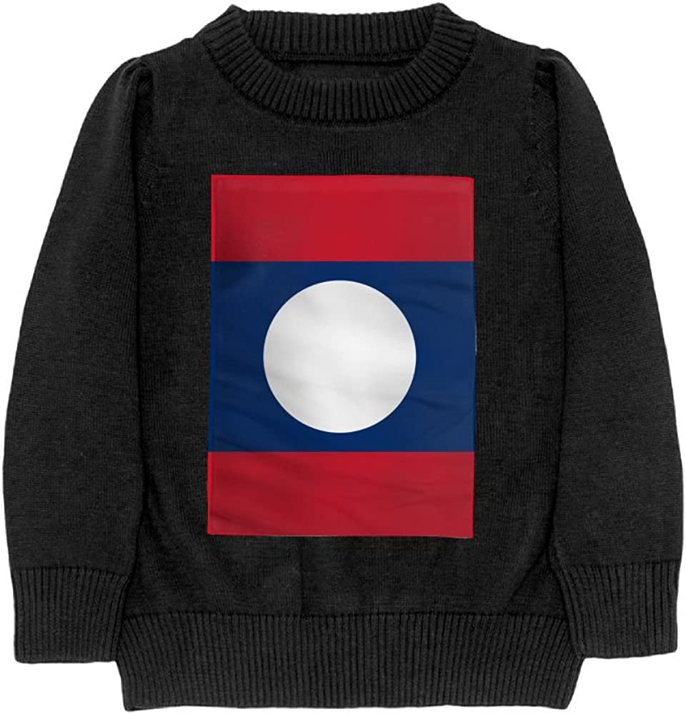 DTMN7 Flag of Laos Teens Sweater Long Sleeves Crew-Neck Youth Athletic Casual Tee Junior Boys
